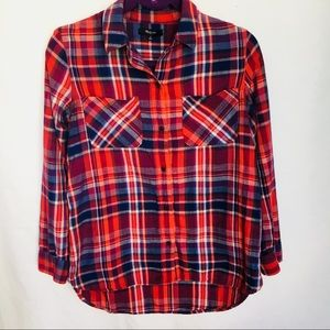 Madewell small button down plaid shirt. Like new.
